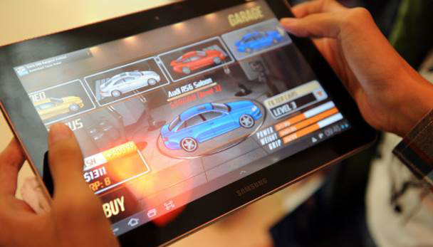 Games at Android-tablet