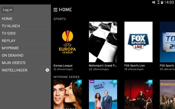 ... zijn de diensten Horizon en MyPrime gecombineerd in de Horizon Go-app