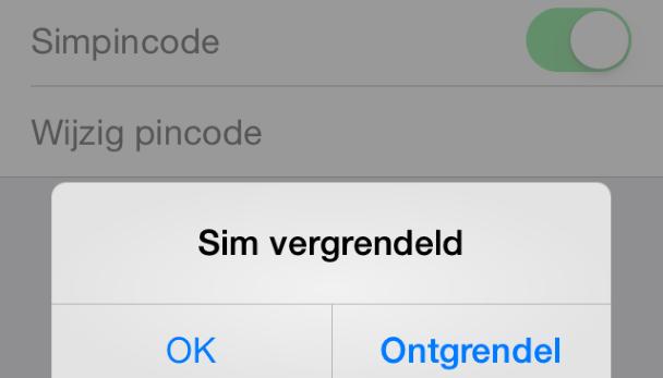 Iphone  Simkaart Ontgrendelen