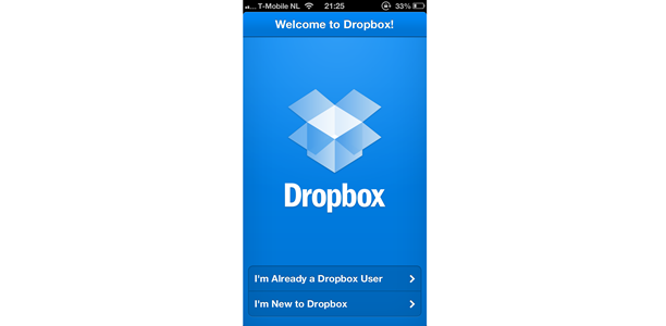 how to cancel upload dropbox iphone